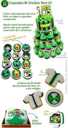 cupcake e biscoito decorado Ben 10