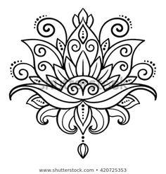 Lotus Flower Tattoo Designs Stock Photos And Images – flower tattoo – mandala Flower Lotus Tattoo, Flower Tattoos, Simple Mandala Tattoo, Lotus Flower Art, Hand Tattoos, Feather Tattoos, Star Tattoos, Sleeve Tattoos, Symbol Tattoos