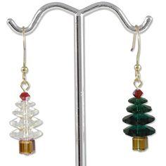 O' Tannenbaum Earring Project, jewelry DIY  http://tech.beads.us/details-O'-Tannenbaum-Earring-Project-195.html