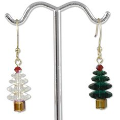 O' Tannenbaum Earring Project, jewelry DIY  http://tech.beads.us/details-O'-Tannenbaum-Earring-Project-195.html