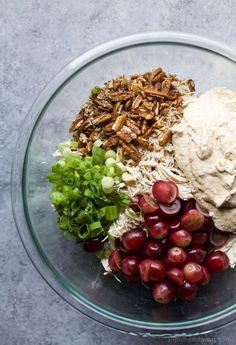 A LIGHT & EASY CHICKEN SALAD RECIPE that's low carb, high protein, and gluten free! This Chicken Salad is made with greek yogurt, mustard, grapes, and fresh lemon juice. Perfect for a quick lunch!   joyfulhealthyeats.com