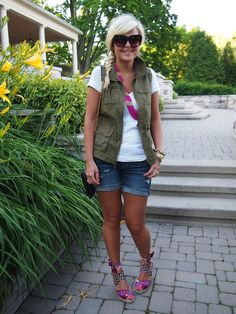 Secret Garden Blazer: Portfolio Louben {similar}   Pants/Clutch: H&M   Sunglasses: Karen Walker Tshirt: Club Monaco   Shoes: Aldo {similar}   Necklace/Bracelet: F21