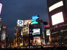 Vista nocturna del cruce de #Shibuya