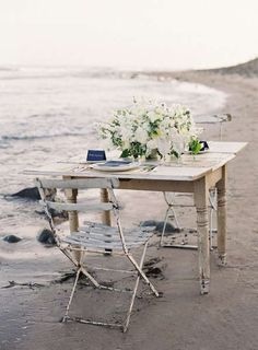 Nautical Wedding Inspiration from Jose Villa Photography Cottages By The Sea, Beach Cottages, Outdoor Dining, Outdoor Decor, Romantic Dinners, Decoration Table, Coastal Living, Outdoor Furniture Sets, Table Settings