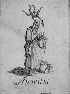 Avaritia, Greed. The Seven Deadly Sins by Jacques Callot, 1621