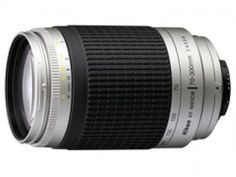 AF Zoom-NIKKOR 70-300mm f/4-5.6G (4.3x) [ Description : Minimum f/stop :  22, Closest focusing distance :1.5m/4.9 ft., Picture Angle with 35mm (135) format : 34(deg)20-8(deg)10 ]  [ Price: Rs.  5,805 ]