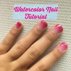Watercolor Nails Tutorial - How to Do Watercolor Nail Art
