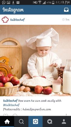 A Little Chef - Fussy Eaters Will Reject Whole Plate If It Contains Foods They… Cooking Chief, Funny Babies, Cute Babies, Book Bebe, Happy Pregnancy, Pregnancy Art, Little Chef, Fussy Eaters, Baby Wallpaper