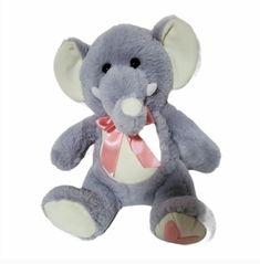 "Gray Pink Elephant Plush Stuffed Animal 11"" Seated Hug Me 3+ #HugMe Pink Elephant, Hug Me, Plush Animals, Im Not Perfect, Teddy Bear, Gray, Hold Me, Felt Stuffed Animals, I'm Not Perfect"
