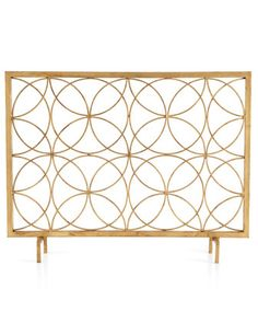 Venn Circles Fireplace Screen - Horchow / this would be perfect as it looks very mid-century mod