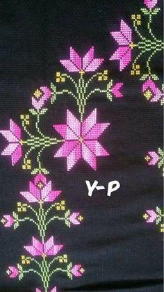 Cross Stitch Patterns, Crochet Patterns, Embroidery Stitches Tutorial, Cross Stitching, Decoration, Brooch, Flowers, Crafts, Cross Stitch Embroidery