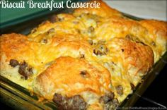 Sausage and Biscuits Breakfast Casserole - Don't forget the gravy!