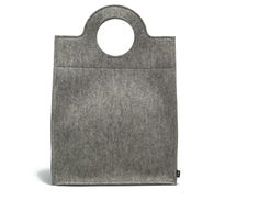 classic grey shopper tote in felt.