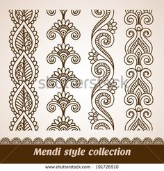 Find henna border stock images in HD and millions of other royalty-free stock photos, illustrations and vectors in the Shutterstock collection. Thousands of new, high-quality pictures added every day. Henna Doodle, Mandala Doodle, Mandala Drawing, Henna Art, Mandala Art, Mandala Tattoo, Henna Patterns, Zentangle Patterns, Embroidery Patterns