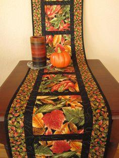 Autumn Leaves Table Runner on Handmade Artists' Shop
