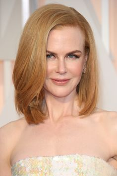 Nicole Kidman updates her look for spring with a long bob.  Getty Images   - HarpersBAZAAR.co.uk