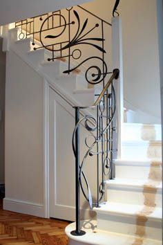 wrought iron balustrade from Verdigris metal work (Patio Step Handrail)