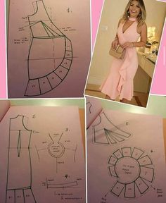 Suknja na preklop s volanom - Salvabrani - Salvabrani Skirt Patterns Sewing, Sewing Patterns Free, Sewing Tutorials, Clothing Patterns, Sewing Projects, Fashion Sewing, Diy Fashion, Sewing Clothes, Diy Clothes