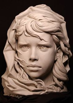 clay busts of smiling girls - Google Search