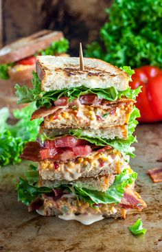 The post Pimento Cheese BLT appeared first on Peas And Crayons. This glorious stacked sandwich is piled high with smoky bacon, crisp lettuce, and creamy pimento cheese for the ultimate Pimento Cheese BLT experience!   I've outdone myself today. In sandwich form. On a mission to recreate one of my favorite indulgences from a local lunch spot, these Pimento Cheese BLT's made their way out of...  Read More » The post Pimento Cheese BLT appeared first on Peas And Crayons. :: Food