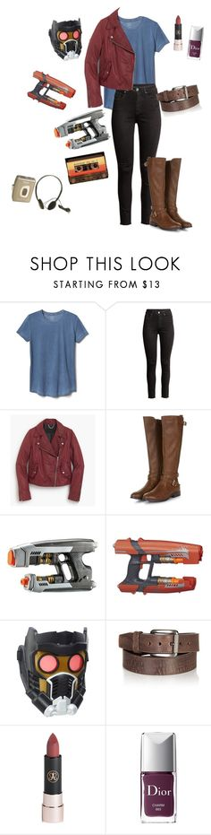 """""""Peter Quill"""" by mikeysfaveslice ❤ liked on Polyvore featuring Gap, H&M, J.Crew, Marvel, Overland Sheepskin Co., Anastasia Beverly Hills, Christian Dior and CASSETTE"""