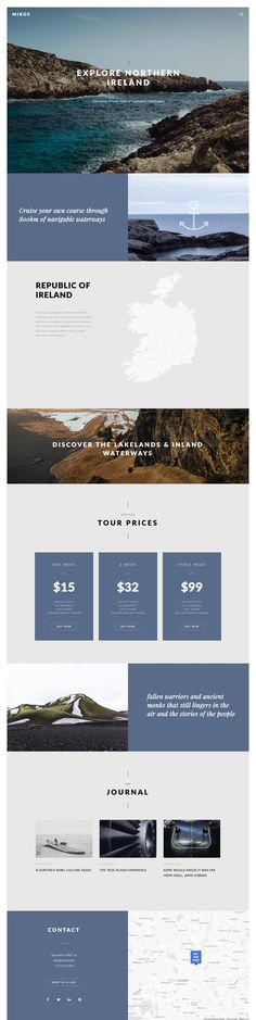 'Mikos' is a multi-use WordPress theme with several dedicated One Page layouts covering travel, events, fashion and digital agencies. Features vary per demo so take some time and dive in - below is my favorite, the spacious Travel landing page. 'Mikos' re