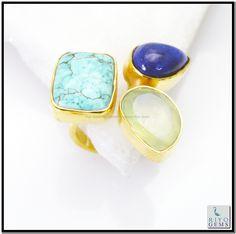 Multi Amethyst Gem Stone 18k Gold Platings Birthstones Ring Sz 7 Gprmul7-5252 http://www.riyogems.com