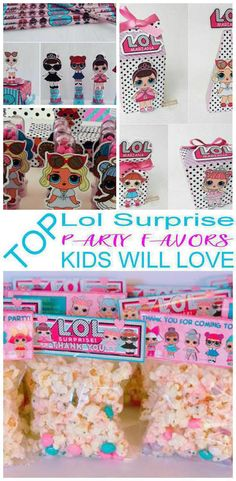 Having a LOL Surprise party and looking for some fun and great ideas for the kids to take home as party favors? We have gathered up some of the best LOL Surprise party favor ideas. Birthday Snacks, Party Favors For Kids Birthday, 6th Birthday Parties, Birthday Gifts For Girls, Birthday Ideas, Birthday Cakes, Best Birthday Surprises, Surprise Birthday, Best Baby Shower Favors