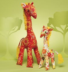 This giraffe would make a great addition to any nursery!  McCalls 6136 Stuffed Animal Sewing Pattern  ucanmakethis, $4.95