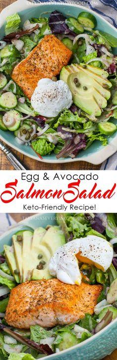 Keto Avocado, Egg and Salmon Salad - Tatyanas Everyday Food