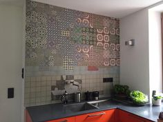 tell me tiles wall and deco wallpaper wet kitchen