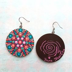 Happy 3D Mandala earrings by Yana Kaechka Check out this item in my Etsy shop https://www.etsy.com/listing/563770128/happy-3d-mandala-earrings-by-yana #mandalartKaechka #happyjewelry#mandalaearrings #Kaechka_jewelry #hippyearrings #festivalearrings #bohoearrings #christmasgift