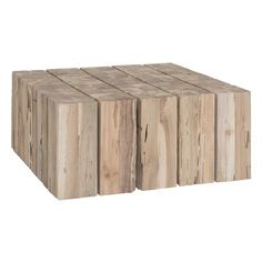 Shop Hamali Block Coffee Table Natural at Interiors Online. Exclusive High End Furniture. Home Coffee Tables, Stylish Coffee Table, Interiors Online, Indoor Outdoor, Outdoor Decor, Outdoor Spaces, Outdoor Living, Reclaimed Timber, Wood Pieces