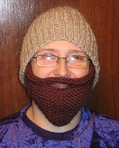 knit a bearded beanie - free pattern [includes beanie!]