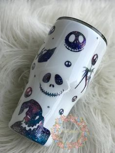 Your place to buy and sell all things handmade Diy Tumblers, Custom Tumblers, Glitter Tumblers, Jack The Pumpkin King, Nightmare Before Christmas Decorations, Tumbler Cups, Tumbler Stuff, Custom Cups, Glitter Cups