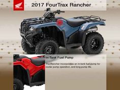 New 2017 Honda FourTrax Rancher 4X4 ES ATVs For Sale in Missouri. 2017 Honda FourTrax Rancher 4X4 ES, Free Winch. CALL FOR DISCOUNT PRICE. Discounts may include incentives and discounts from the manufacturer and dealer. Price excludes manufacturer s freight, dealer setup, and is subject to change.