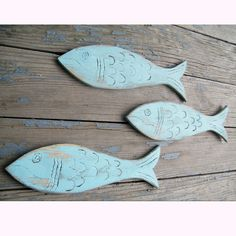 Fishy School Signs 3 Piece Set Beach Coastal by SlippinSouthern, $47.00