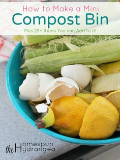 Follow these tips on how to make a compost bin, even if you are limited on time and space. plus see 25 items you can add to it!