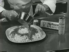 Chef Boyardee Spaghetti Dinner ~ TV commercial from 1953.....funny to see these commercials again!