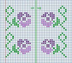 Cross Stitch Alphabet Patterns, Cross Stitch Borders, Cross Stitch Flowers, Cross Stitch Charts, Cross Stitching, Tapestry Crochet Patterns, Knitting Patterns, Hand Embroidery, Embroidery Stitches