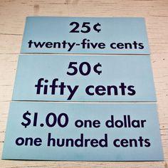 Big Flash Cards Vintage School Supplies