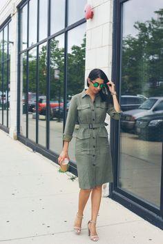 green loft trench dress