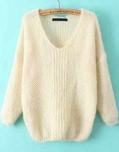 V Neck Mohair Sweater