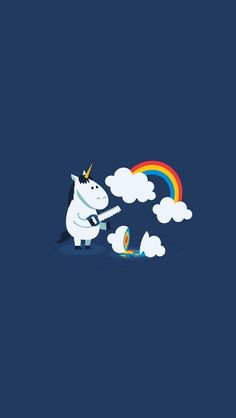 Funny unicorn - Best iPhone 5s wallpapers