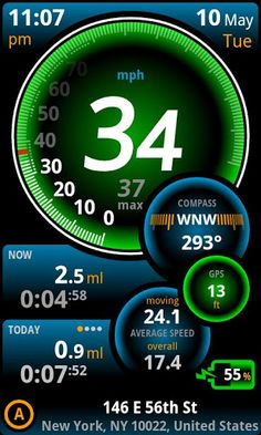 Ulysse Speedometer Pro v1.8.1   Requirements: Android 1.6+  Overview: Drive safety!  Most advanced and intuitive Speedometer and car Dashboard application which helps you drive safety.
