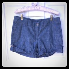 Cuffed Chambray Shorts New condition worn & washed only two times. Kenar Shorts