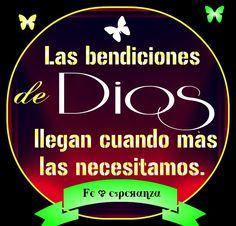 Las bendiciones de Dios llegan cuando mas las necesitamos.