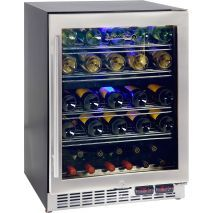 Quality wine fridge well designed with quiet operation, can be built in under bench tops, units have quality parts and fit 51 x bottles of your favourite wines. Seamless stainless door with lock looks great and units have special LOW E glass to minimise c Drinks Fridge, Beer Fridge, Wine Drinks, Beer And Wine Refrigerators, Stainless Steel Doors, Built In Bench, Wine Tasting, Glass Door, Home Interior Design