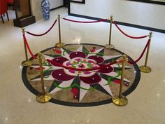 Rangoli for Diwali proudly made by staffs of Palms Hotel and Crystal Cove Beauty Salon