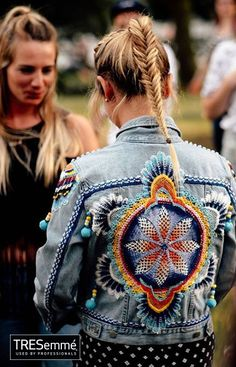 8b311bfe7a81 Denim blouse Embroidered + fish tail hair TRESemmé Blå Jeans, Jeansjackor,  Jeansjackor, Snygga